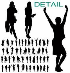 Businesswomen silhouettes vector