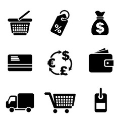 computer commerce icons vector image vector image