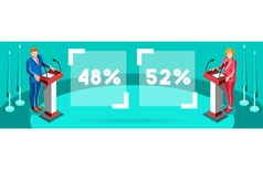 Election Infographic Podium Candidate Isometric vector image vector image