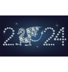 Happy new year 2024 creative greeting card vector image vector image