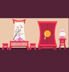 interior ancient china vector image vector image