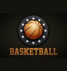 premium basketball label vector image