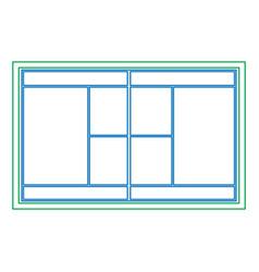 Tennis court topview icon ima vector