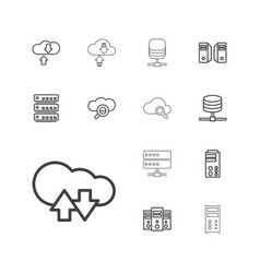 13 database icons vector