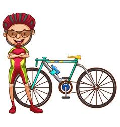A cyclist vector image