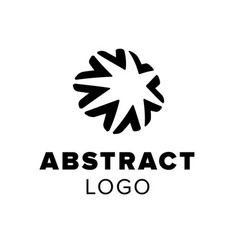 abstract star logo geometric symbol template for vector image