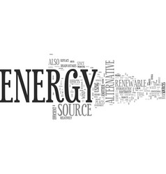 Alternative energy investments text word cloud vector