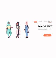 Arabic women in hijab discussing arab girls vector
