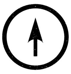 Arrow Axis Y Icon Rubber Stamp vector image