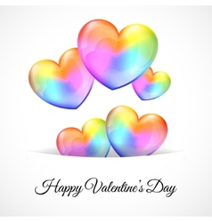 Background with Multicolor Heart Balloons vector image
