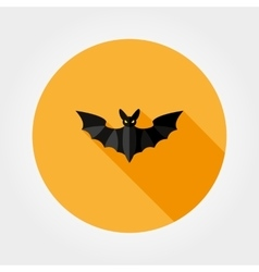 Bat silhouette Halloween vector