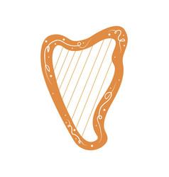 Beautiful harp cartoon ancient musical vector