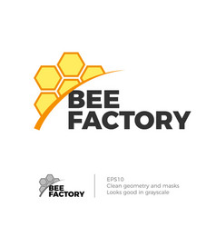 bee honey logo vector image