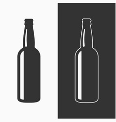 Beer bottle icon background vector