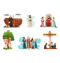 Bible stories set vector