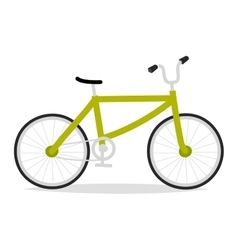 Bicycle flat vector image vector image