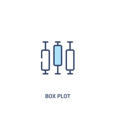 Box plot concept 2 colored icon simple line vector