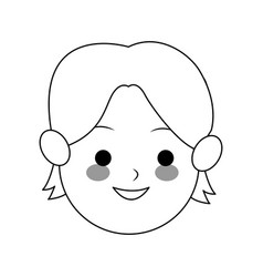 Boy cute cartoon icon image vector