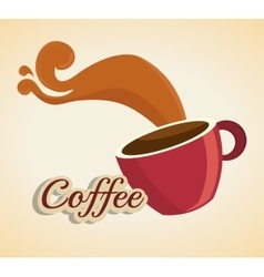 Cartoon cup coffee design design vector