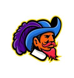 Cavalier head mascot vector