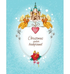 Christmas background colored vector