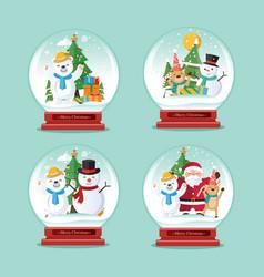 christmas globe christmas decoration vector image