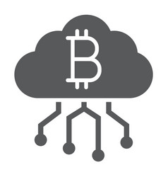 cloud mining glyph icon finance and money vector image