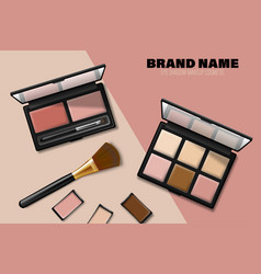 Cosmetics eyeshadow palette ads product placement vector