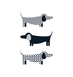 dachshund dog tshirt cartoon design vector image