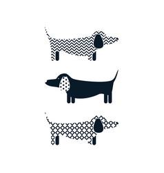 Dachshund dog tshirt cartoon design vector