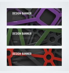 Design horizontal web banners vector