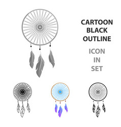 Dreamcatcher icon cartoon singe western icon from vector