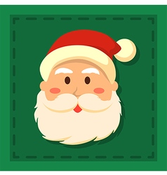 Full Face Santa Green vector image