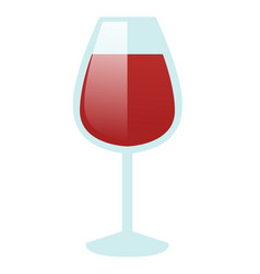 glass of red wine cartoon vector image