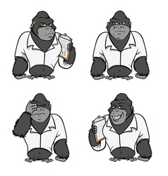 gorilla lab suit collection vector image