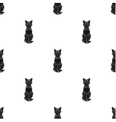Gray catanimals single icon in black style vector