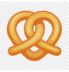 Heart pretzel icon cartoon style vector