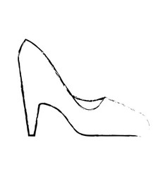 high heel shoes vector image