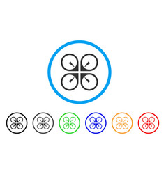 Hover drone rounded icon vector