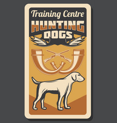 Hunting dog and hunt training center vector