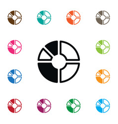 Isolated report icon segment element can vector