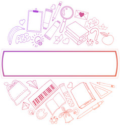 line icons set of education process music sport vector image