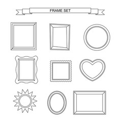 Line photo frames vector