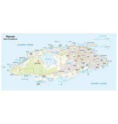 Map nassau capital bahamas new providence vector