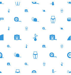 Measuring icons pattern seamless white background vector