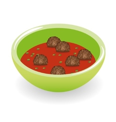 meatballs in tomato sauce vector image
