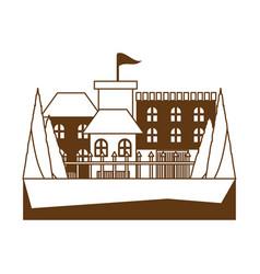 modern castle icon image vector image