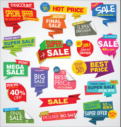 modern sale banners and labels colorful vector image