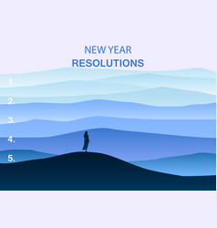 new years resolution in the new year women are vector image