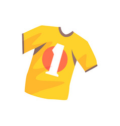 Orange soccer shirt cartoon vector